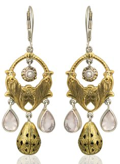caracol inspired jewelry and handbags mars and valentine rose quartz teardrop earrings 17900 - Mars And Valentine