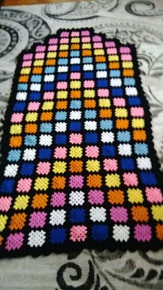 Best 11 Granny square afghan My Mom made one of these in the pattern still pretty today! Crochet Baby Dress Pattern, Crochet Blanket Patterns, Crochet Stitches, Crochet Granny, Filet Crochet, Knit Crochet, Ohio State Colors, Granny Square Afghan, Moda Emo