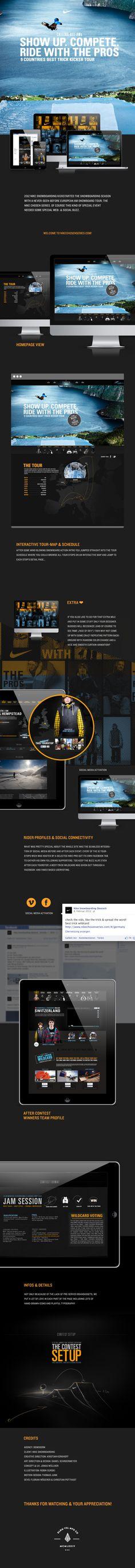 Nike Chosen Series #digitial #web #behance #nike on Twitpic