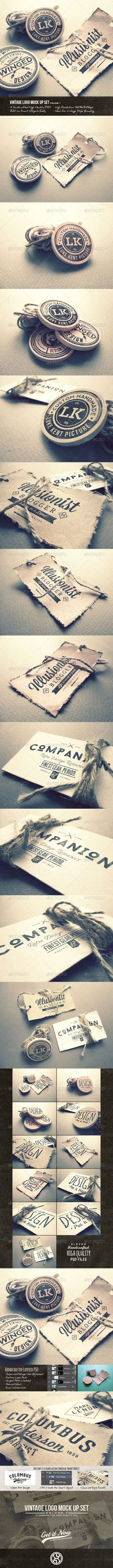 Use these mock up with your vintage logos and badges, it'll bring out a strong handcrafted branding presence and vintage impression of your brand and products • Available here → http://graphicriver.net/item/vintage-logo-mock-up-set-volume-1/8107590?s_rank=134&ref=pxcr