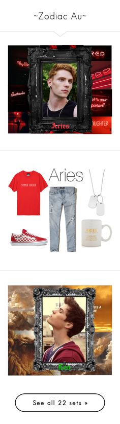 """""""~Zodiac Au~"""" by micky-star on Polyvore featuring art, Hollister Co., Vans, Variations, Sparrow & Wren, men's fashion, menswear, Wood Wood, Converse and Master & Dynamic"""