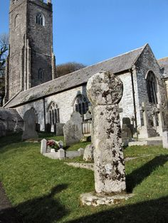 CELTIC CROSS | Altarnun, Cornwall: In the churchyard ✫ღ⊰n Cornwall England, Cathedrals, Wells, Great Britain, Crosses, Pagan, Mount Rushmore, United Kingdom, Celtic