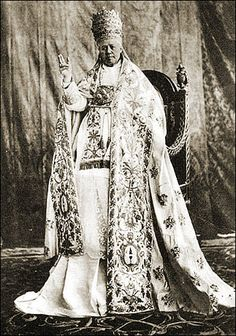Pope on high…Pope St Pius X, 1835-1914