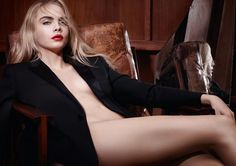 Cara for YSL - Rouge Pur Couture.