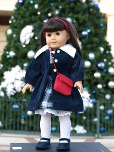 American Girl Doll Clothes - 8 piece outfit Navy Blue Festive/Christmas Outfit