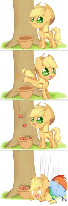 Apple Bucking by Soapie-Solar.deviantart.com