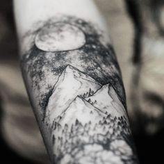 Mountain Tattoo Arm