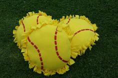Softball no sew pillows