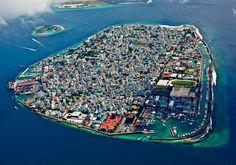 Male, the capital of the Maldives.