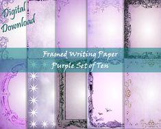 Writing Paper, Purple, Pink, Printable Paper, Your Image, Printer, Fox, Printables, Digital