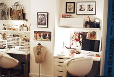 Décor Inspiration: Studio Space by Burrs & Berries, via Flickr