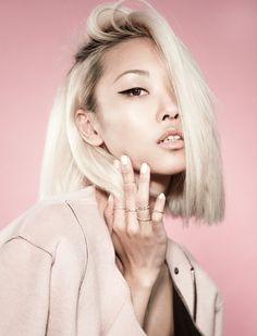 Vanessa Hong by Christopher Winter - Makeup/Hair by Win Liu using MAC Cosmetics Synthetic Lace Front Wigs, Synthetic Wigs, Hair Inspo, Hair Inspiration, Blonde Asian, Blond Ombre, Blonder Bob, Cut And Color, Hair Trends