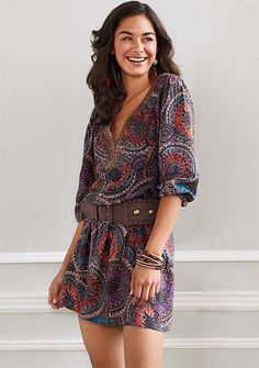 Crystal Paisley Tunic Dress  Now: $32.90-$34.90  Alloy.com