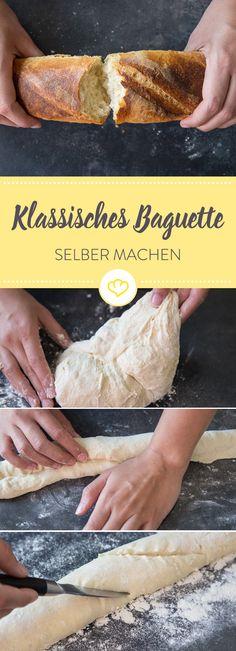 Mit selbstgemachtem Baguette kommst du dem französischen Savoir-vivre ein gutes Stück näher. Es ist gar nicht schwer und schmeckt besser als vom Bäcker.