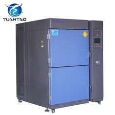 2 zones high low temperature test chamber is used to test the capability of material structure or composite materials to withstand the continuous environmental changes between extremely high temperature and low temperature during a short period, and therefore understand the chemical changes or physical damages caused by expansion from heat and contraction from cold in the shortest possible time. #highlowtemperaturetestchamber #highlowtemperaturechamberprice #highlowtemperaturetesting
