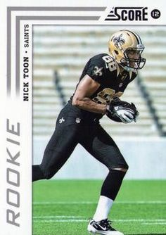"Nicholas Adam ""Nick"" Toon (born November 4, 1988) is a wide receiver who was drafted by the New Orleans Saints in the 4th round of the 2012 NFL Draft. Played with the Saints till 2014."
