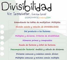 DIVISIBILIDAD: Ejercicios interactivos de múltiplos y divisores, incluye números primos y compuestos - Juegos gratis y Software Educativo