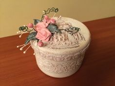 Декорирование коробки из-под конфет. (Decoration box from under sweets). - YouTube