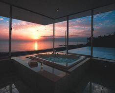 ▷ ideas for a stylish and modern dream bathroom- ▷ Ideen für ein stilvolles und modernes Traumbad dream bathrooms with large windows and beautiful views - Dream Bathrooms, Dream Rooms, Beautiful Bathrooms, Luxury Bathrooms, Serene Bathroom, Master Bathrooms, Bathrooms Decor, Open Bathroom, White Bathrooms