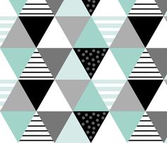 Cheater Quilt Minty Blue fabric by natitys on Spoonflower - custom fabric