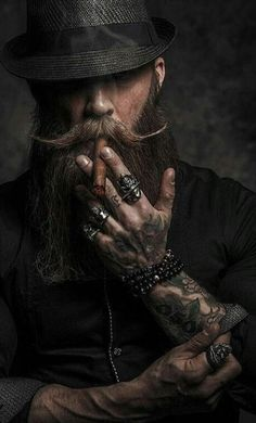 Siméon, Primogène Toreador Bart Tattoo, Hair And Beard Styles, Hair Styles, Beard Art, Smoke Art, Poses For Men, Mode Style, Men's Style, Man Stuff