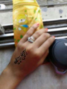My hand# name tattoo