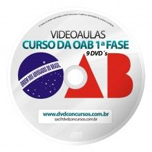 VIDEOAULAS OAB EXAME DA ORDEM PRIMEIRA FASE XV COMPLETO 2014 9 DVDS