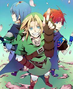 Super Smash Bros. Link, Roy, and Marth