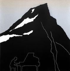 Per Kleiva - Pianisten Printmaking, Modern Art, Pop Art, Stencils, Art Photography, Batman, Fine Art, Superhero, Black And White