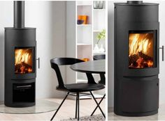 The Westfire Uniq 15 Wood Burning Stove has an aesthetic modern look with clean lines. The combustion system is innovative and environmentally friendly making the Westfire Uniq 15 DEFRA approved for woodburning only. The rounded glass door at the front Contemporary Wood Burning Stoves, Stoves For Sale, Stove Accessories, Freestanding Fireplace, Freestanding Stoves, Multi Fuel Stove, Wood Burning Fires, Electric Stove, Atelier