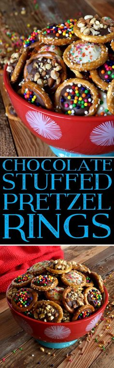 Chocolate Stuffed Pretzel Rings