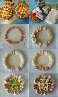 Mezzaluna di Sfoglia alla Salsiccia http://www.unadonnaalpc.it/cucina/secondi-piatti/mezzaluna-di-sfoglia-alla-salsiccia/