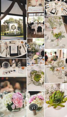 #wedding #details #green #pink #white #succulents #golf #course #venue #centerpieces #decor #ellaphotography