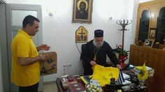 Greek Orthodox Bishop David of Grevena-Greece,received a jersey of Aris(Ares) Thessaloniki,his favorite club.2015