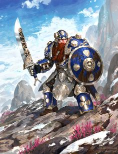 Dwarf Warrior by Vablo.deviantart.com on @DeviantArt
