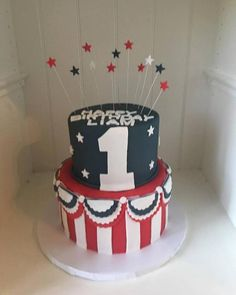 Image result for PATRIOTIC FIRST BIRTHDAY CAKE