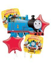 Foil Thomas and Friends Birthday Balloon Bouquet - Party City