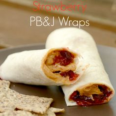 Try these Strawberry, Peanut Butter and Jelly Pastry Wraps! A Fun Summer Twist on a Staple Sandwich!