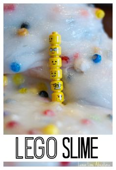 Lego Slime Recipe | Super fun sensory play for the summer