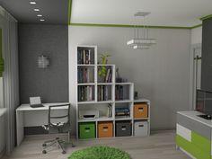 Дизайн интерьера — Лаборатория пространства » Комната будущего студента (мкрн. Парковый)