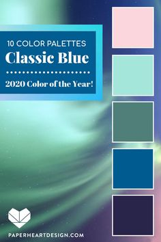 Pantone Color of the Year 2020 10 Beautiful Classic Blue Color Palettes! Pantone Color of the Year 2020 Classic Blue color schemes to inspire you! Blue Colour Palette, Blue Color Schemes, Color Combos, Color Blue, Popular Color Schemes, Blue Shades Colors, Color Schemes Design, Pastel Shades, Design Color