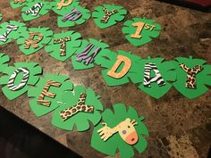 Jungle Themed Banner Birthday Party Decorations - Layla Baby Name - Ideas of Layla Baby Name - Jungle Birthday Party Decorations Jungle Theme Classroom, Jungle Theme Parties, Jungle Theme Birthday, Wild One Birthday Party, Safari Birthday Party, Animal Birthday, Boy Birthday Parties, Birthday Party Decorations, Fruit Birthday