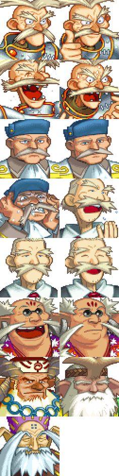 Grandia (1997, PS1) - Java, Steamer Captain, Museum Curator, Gumbo's Chief, Dight's Elder, Luc's Chief, Cafu's Elder.