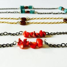 DIY Chain and Bead Necklace