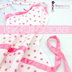 In honor of ‪#‎NationalBreastCancerAwarenessMonth‬ we are offering #coupon code FLIRTYHOPE for Free Shipping and 30% off any of our regular retailed aprons. Let's go ‪#‎pink‬! Coupon expires 10/31/2015.