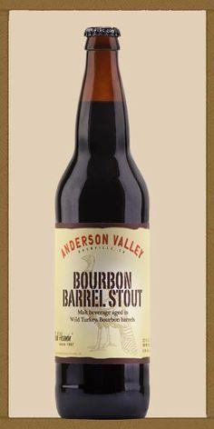 Anderson Valley Wild Turkey Bourbon Barrel Stout - vanilla, coffee, dark chocolate...complex...delicious.