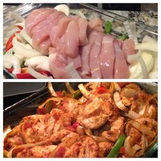 21 Day Fix Approved Baked Chicken Fajitas. With corn tortillas, counts as a yellow, red, and green!