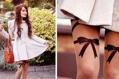 Bows & pretty things. (by Anouska Proetta Brandon) http://lookbook.nu/look/1124549-Bows-pretty-things