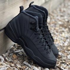 876dbe6f5a5 Air Jordan 12 Winterized Black Anthracite BQ6851-001 Release Date - SBD
