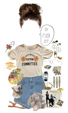 """""""i'm feelin lost"""" by gr8star51 on Polyvore featuring Oliver Peoples, Sakdidet Road, Retrò, Jellycat, Whimsical Watches and Boohoo"""